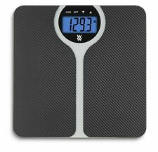WW Scales by Conair Carbon Fiber Design BMI Bathrom Scale - Shows BMI (body ma..