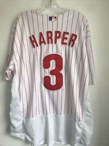 Majestic BRYCE HARPER  Phil Phillies #3 Baseball Jersey, Size: 52