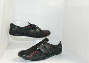 GUCCI MENS SHOES SNEAKERS BLACK SZ 42 MADE IN ITALY