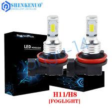 Fits For Acura Tl 2007-2014 Pair H11 Led Fog Light Bulbs 6000K White