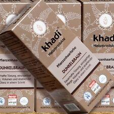 Khadi piante Colore dei Capelli Marrone Scuro 100g Naturkosmetik certificata bio pflegend
