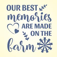 Farmhouse Stencil Best Memories On Farm Windmill Blades Willow DIY Craft Signs