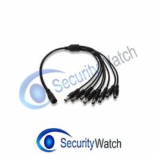 8 WAY DC 12V SPLITTER FOR CCTV POWER SUPPLY 1 x FEMALE TO 8 x MALE 2.1 x 5.5mm#