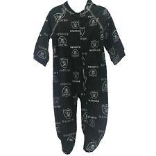 Oakland Raiders Nfl Baby Toddler Infant Size Pajama Sleeper Bodysuit New Tag
