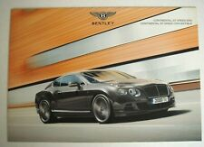 Bentley . Continental GT Speed and GT Speed Convertible . 2014 Sales Brochure
