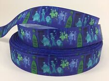 "BTY 7/8"" Haunted Mansion Disney Ghost Ribbon Hair Bow Scrapbook Lisa"