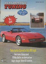 Performance Tuning magazine 02/1988 Corvette, Caterham Seven, Lotus Cortina,SAAB