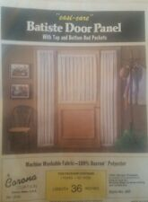 "Corona Curtain Batiste Door Panel / Top & Bottom Rod Pockets 42"" X 36"""
