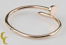 Bracciali di metalli preziosi senza pietre in oro rosa 18 carati