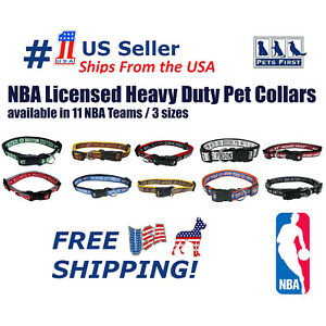 NBA Collars Heavy-Duty, Durable & Adjustable Collar for Pets Dogs & Cats