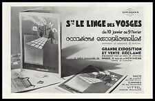 PUBLICITE  LINGE DES VOSGES  LINGE DE MAISON   1931 - 2H