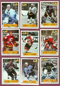 1995-96 BASHAN IMPERIAL SUPER STICKERS NHL HOCKEY CARD 1 TO 136 SEE LIST
