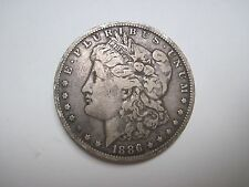 Circulated Ungraded 1886 O Morgan Silver Dollar Uncertified Business Strike