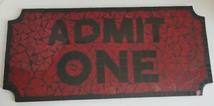 """Admit One"" Ticket Bar Sign Home Movie Theater Mosaic 19.75""×9"""
