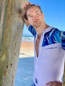 Mens One Piece Surfing Rash Guard Swimsuit SPF 50