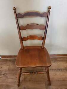 Tell City Ladder Back Dining Chair Hard Rock Maple Andover Finish #4
