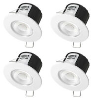 4x Bright Source DL5 5w LED IP65 Waterproof Fire Rated Ceiling Downlight 55mm