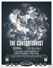 "TESSERACT / ERRA ""POLARIS NORTH AMERICA TOUR"" 2015 PORTLAND CONCERT POSTER"
