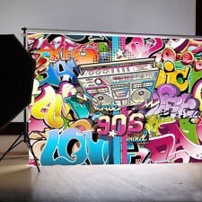 5x7FT 90s Hip Hop Vinyl Wall Photography Studio Background Photo Backdrop Wall