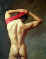 LMOP938 100% hand-painted strong naked man oil painting on canvas art