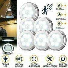 6-LED Motion Sensor Lights PIR Wireless Night Light Battery Cabinet Stair Lamp~
