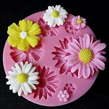 3D Flower Fondant Cake Mold Silicone Mould Sugarcraft DIY Baking Decor H9D4