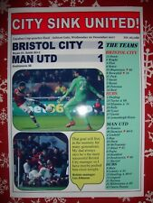 Bristol City 2 Manchester United 1 - 2017 Carabao Cup - souvenir print