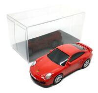"Porsche 911 Turbo Red Diecast Car Scale 1/64 (2.5"") RMZ City Free Display Box"