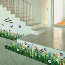 Grass Flower Butterfly Pattern Removable Wall Sticker Decal Art DIY Decor GSS