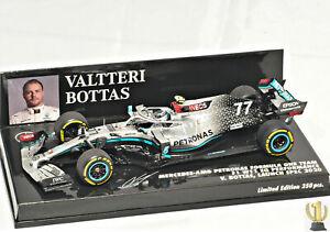 1/43 Minichamps Mercedes AMG Petronas F1 W11 EQ N°77 V.Bottas Launch Spec 2020