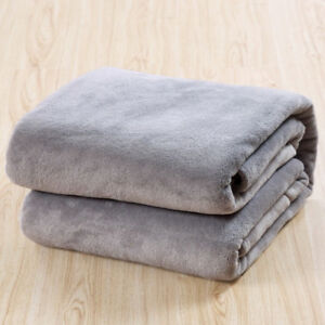 Micro Plush Fleece Blanket Throw Rug Super Warm blankets throw Sofa/Bed 50X70 cm