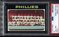 1971 Topps Baseball #268 Philadelphia Phillies Team Card PSA 8 NM-MT
