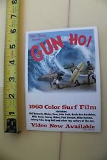 Gun Ho Bud Browne 1963 Color Surf Film 1997 Video Vhs Surfing Movie Post Card