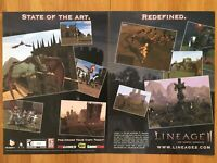 Lineage II 2: Chaotic Chronicle PC 2003 Vintage Game Poster Ad Art Print Rare
