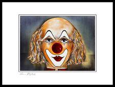 Armin Birkel Clown Studie II Poster Bild Kunstdruck im Alurahmen schwarz 30x40cm