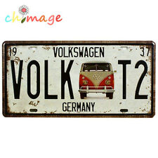 Volk T2 LICENSE CAR PLATE Vintage Tin Sign Bar pub home Wall Decor