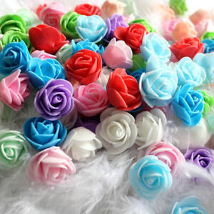 LOTS 500PCS PE FOAM ROSE HEAD ARTIFICIAL FLOWER DIY WEDDING HOME DECOR 3CM SPECE