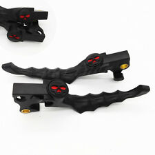 Black Red Skull Hand Levers Clutch Brake Lever For Harley XL 883 1200C Sportster