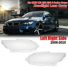 Pair Headlight Headlamp Lens Cover Fit For BMW E92 E93 Coupe M3 328i 335i Cabrio