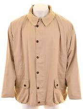 BARBOUR Mens Harrington Jacket Size 44 2XL Beige Cotton Lightweight Bedale IX16