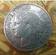 5 francs Cérès - 1871 K – Bordeaux - argent – TTB