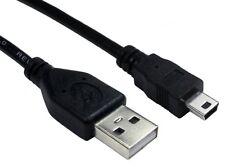 5m 5 Metre USB 2.0 Lead A Plug To Mini B 5 pin  Data Cable Power Lead Black new