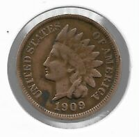USA Rare Very Old Antique 1909 US Indian Head Penny Cent Collection Coin Lot i47