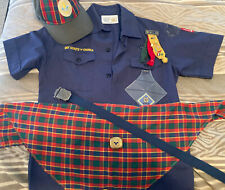 Official Cub Scouts Uniform Sz youth Medium Shirt BSA scarf Hat S/M Belt Webelos