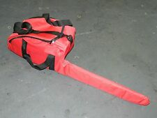 """DELUXE CHAINSAW CARRY CASE BAG AND BAR COVER STIHL HUSQVARNA ECT UP TO 24"""" BAR"""