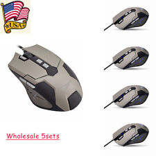 New listing 5pcs 3600 Dpi Led Backlighting Multi-Color Gaming Usb Wired Mouse Ergonomic Mice