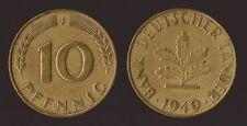 GERMANIA GERMANY 10 PFENNIG 1949 J