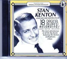 (EI760) Stan Kenton & His Orchestra Play, 18 Original Big Band Hits - 1987 CD