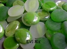 DISCONTINUED ~ KiWi GREEN MIX ~ 50 Glass Gems NUGGETS * Mosaic TILE TILES