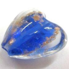 4 pcs Lampwork Heart Glass Beads - 20mm - A4016